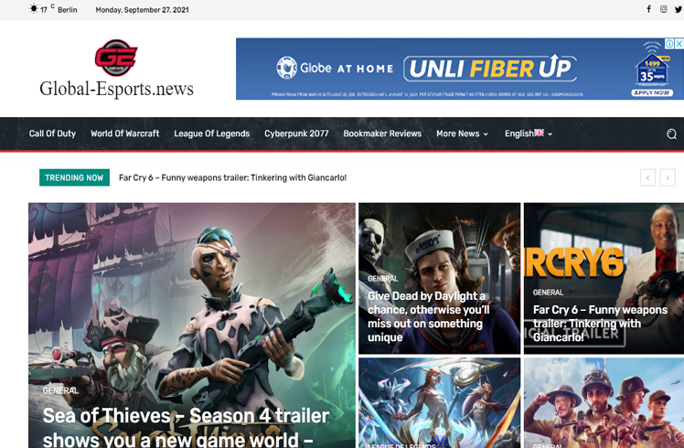 Top rated Websites with Esport News