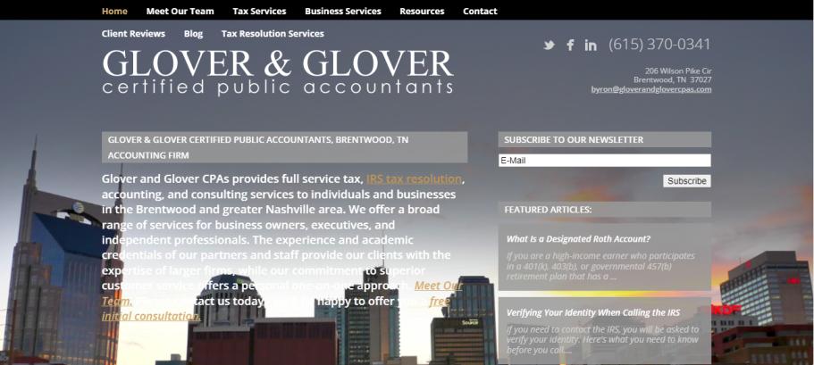 Glover & Glover CPAs in Nashville, TN