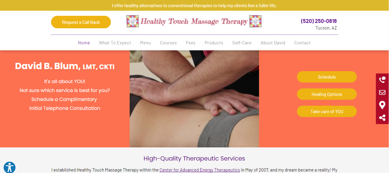 Healthy Touch Massage Therapy in Tucson, AZ