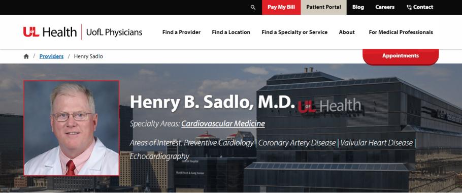 Henry B. Sadlo, MD in Louisville, KY