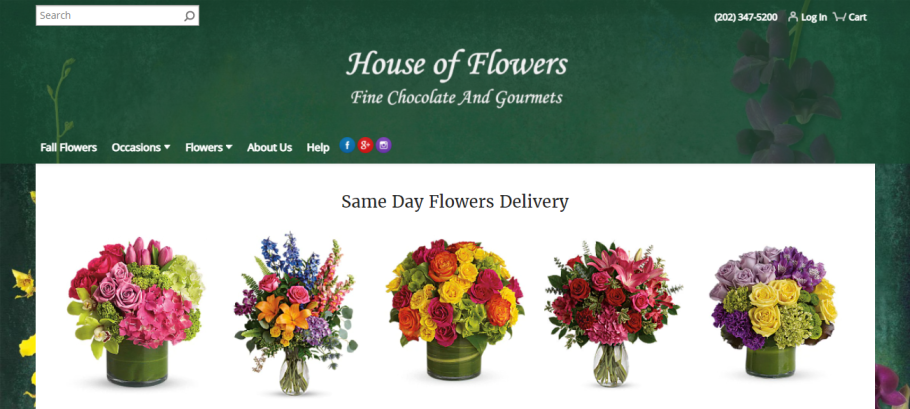 House of Flowers in Washington, DC