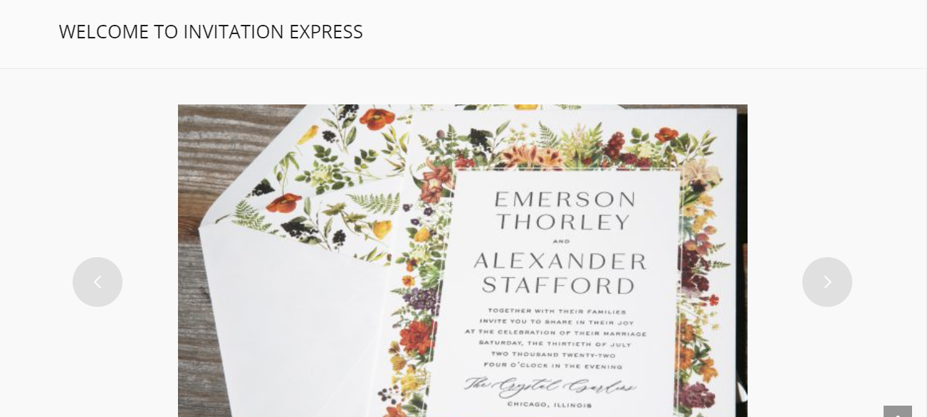 Invitation Express in Tucson, AZ