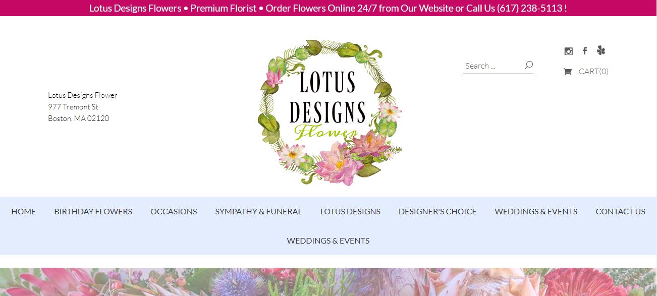 Lotus Designs Flower in Boston, MA