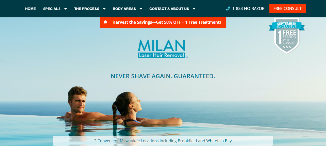 Milan Laser Hair Removal in Milwaukee, WI