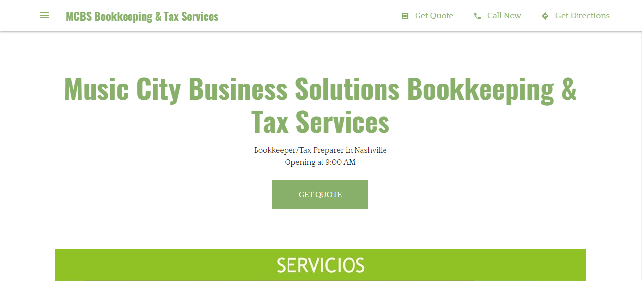 Music City Business Solutions Bookkeeping & Tax Services in Nashville, TN