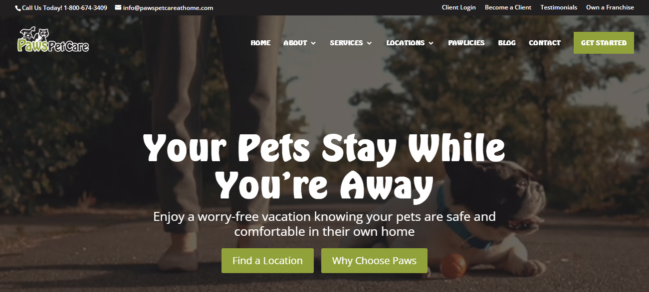 Paws Pet Care in Louisville, KY