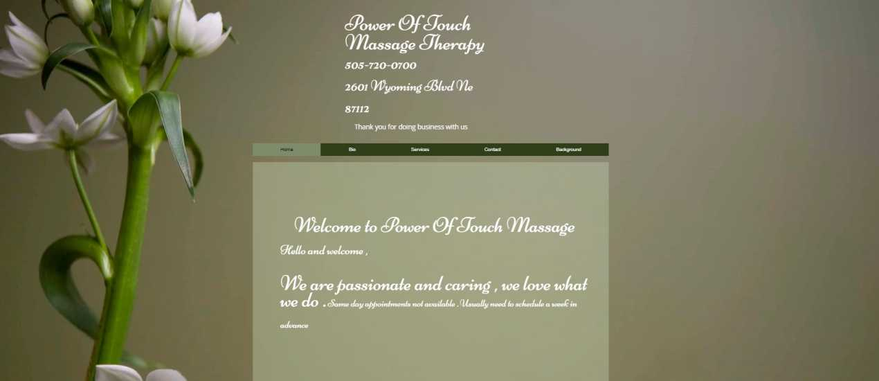 Power Of Touch Massage Therapy