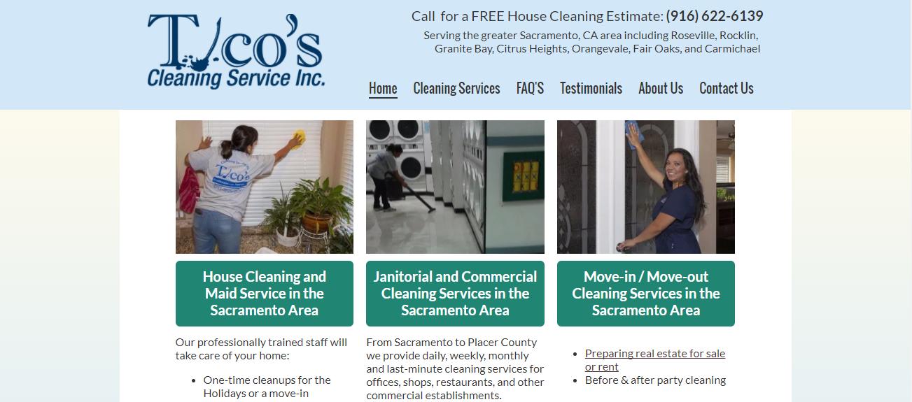 Tico's Cleaning Service in Sacramento, CA
