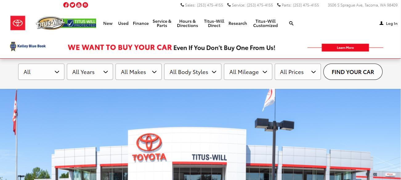 Titus-Will Toyota in Seattle, WA