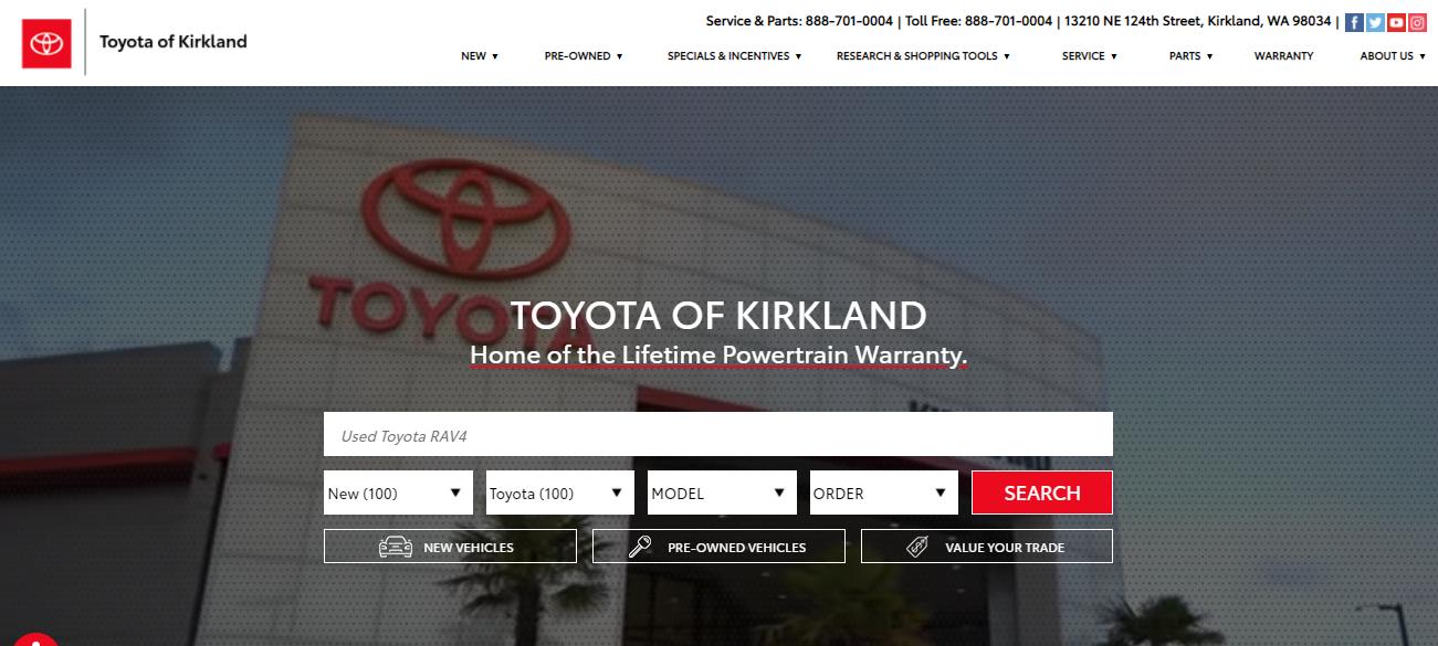 Toyota of Kirkland in Seattle, WA