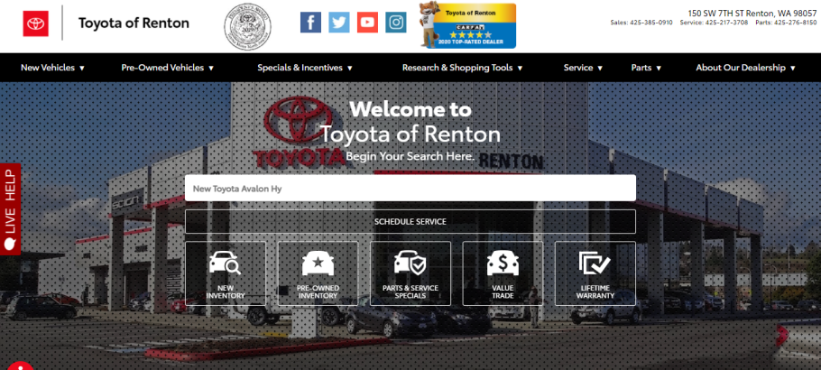 Toyota of Renton in Seattle, WA