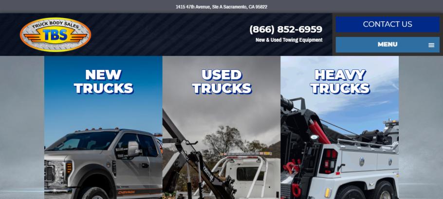 Truck Body Sales in Sacramento, CA