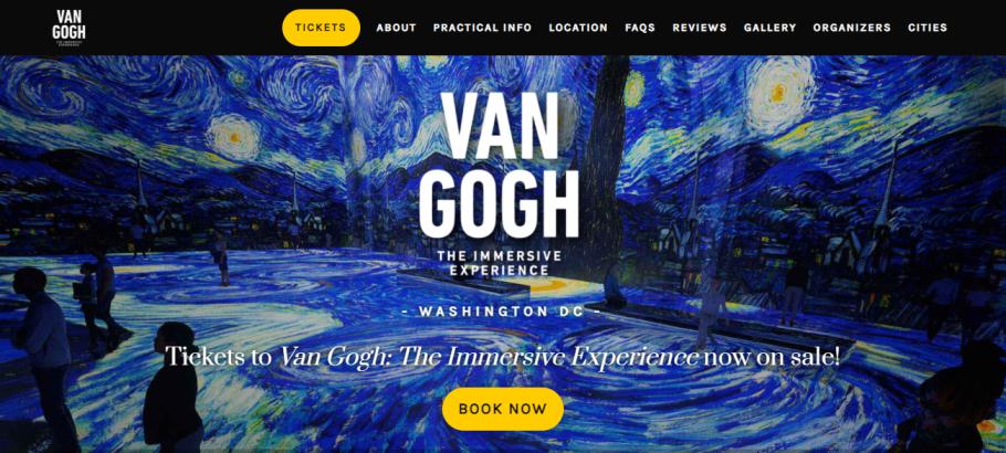 Van Gogh: The Immersive Experience in Washington, DC