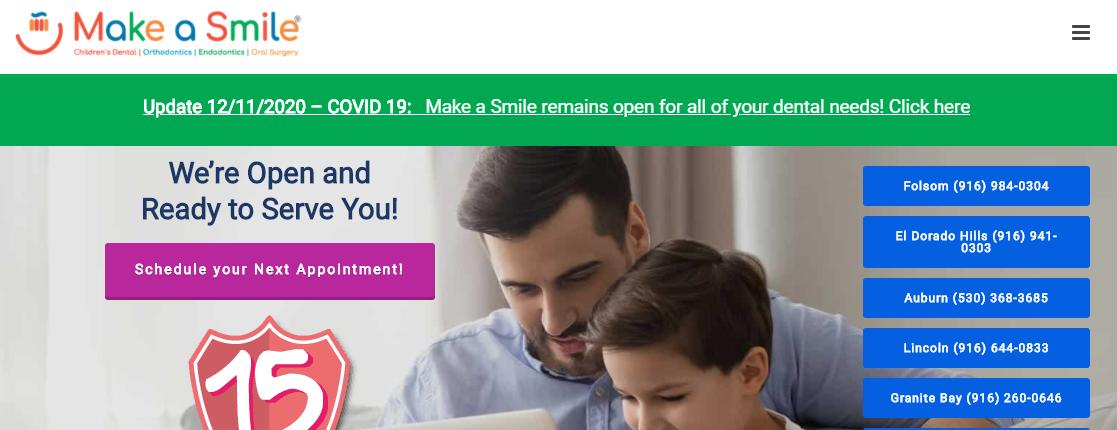 Make A Smile Pediatric Dentists in Sacramento, CA