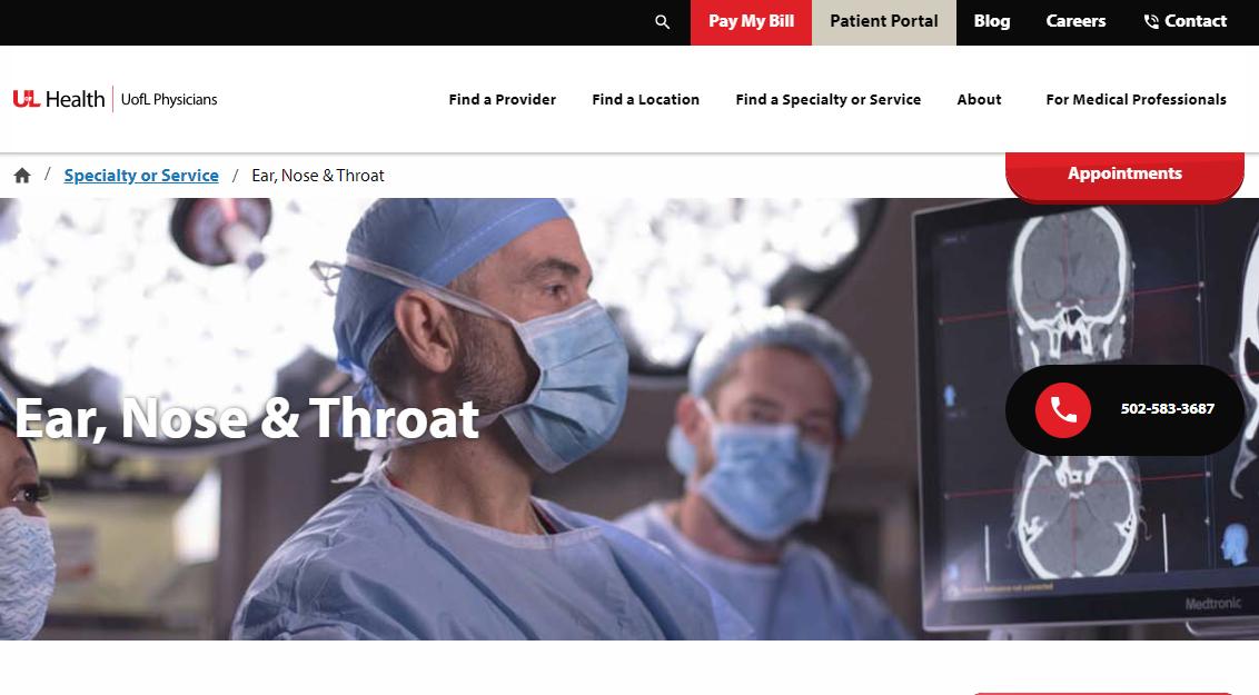 University of Louisville Physicians- ENT