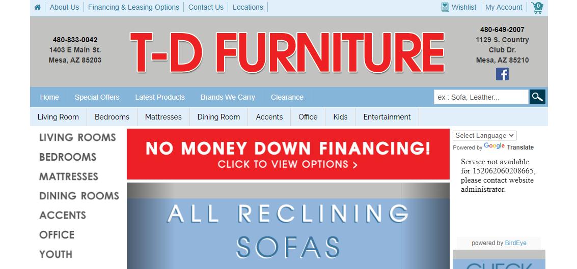 T-D Furniture Mesa