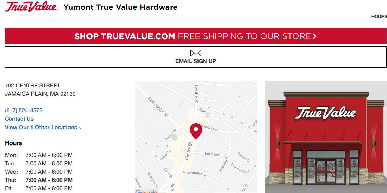 Yumont True Value Hardware