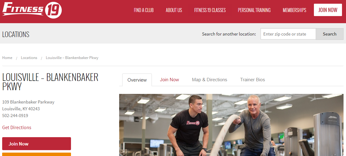 Fitness 19 Leisure Centers in Louisville, KY