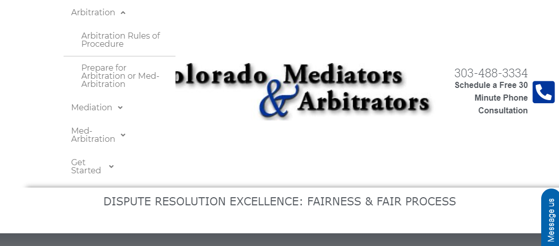 Colorado Mediators and Arbitrators