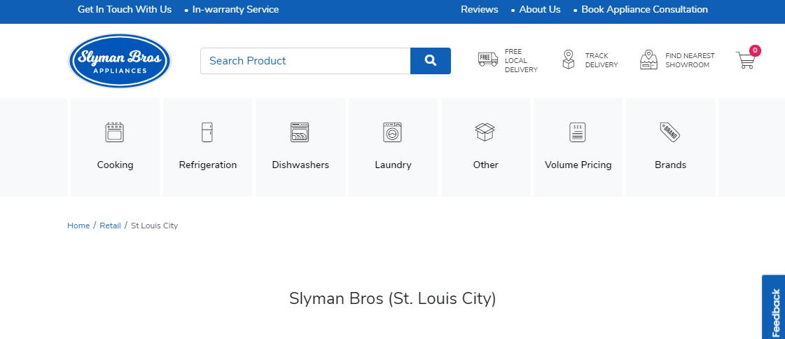 Slyman Bros Appliances White Goods Stores in St. Louis, MO