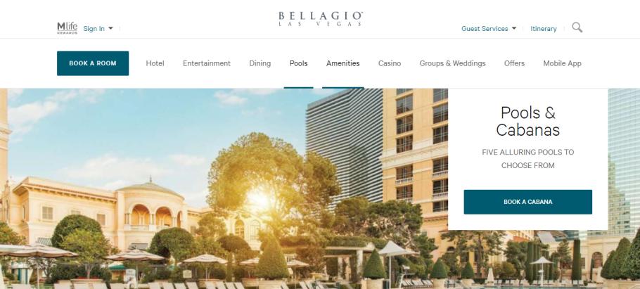 Bellagio Pool in Las Vegas, NV