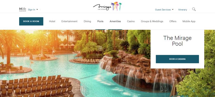 The Mirage Pool in Las Vegas, NV