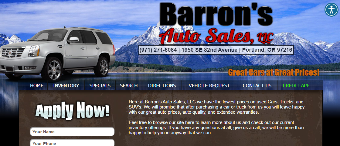 Barron's Auto Sales LLC Portland, OR