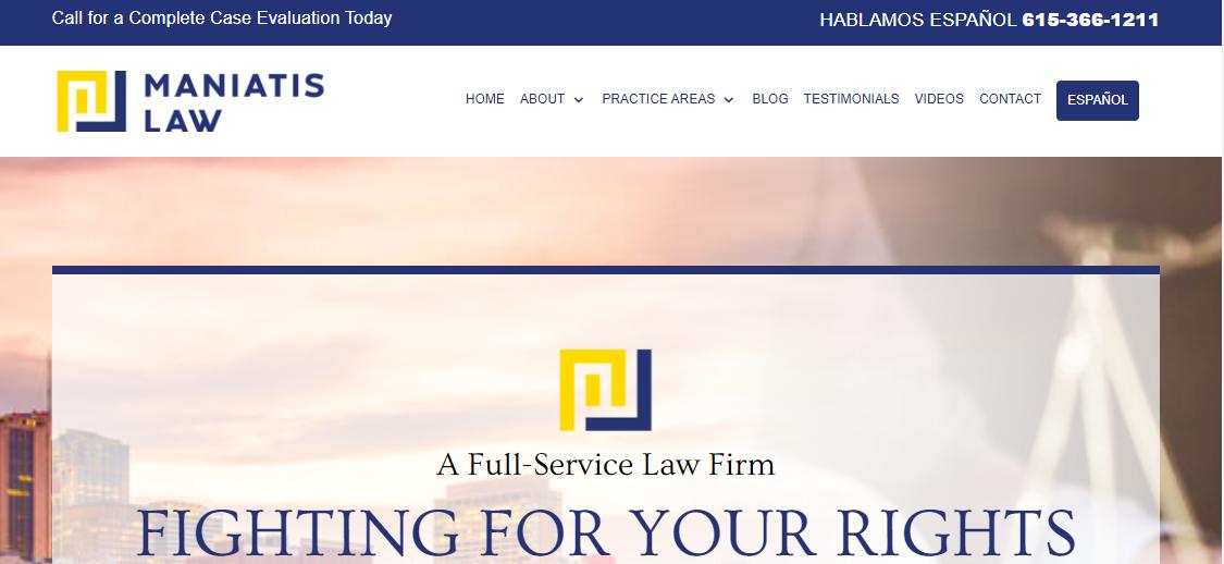 Maniatis Law Firm PLLC Nashville, TN