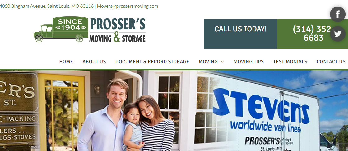 Prosser's Moving and Storage Company St. Louis