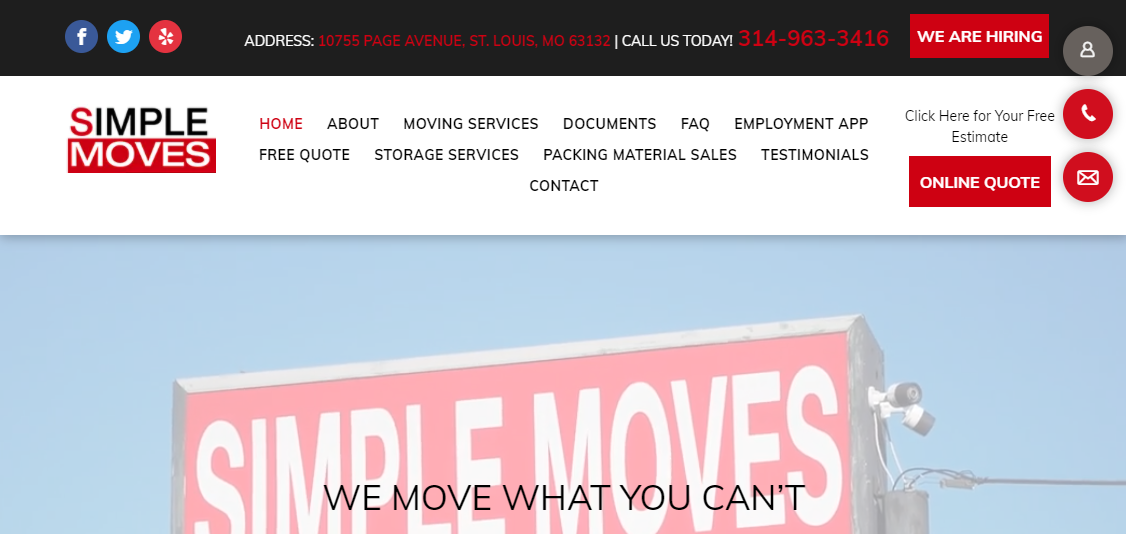 Simple Moves Removalists in St. Louis