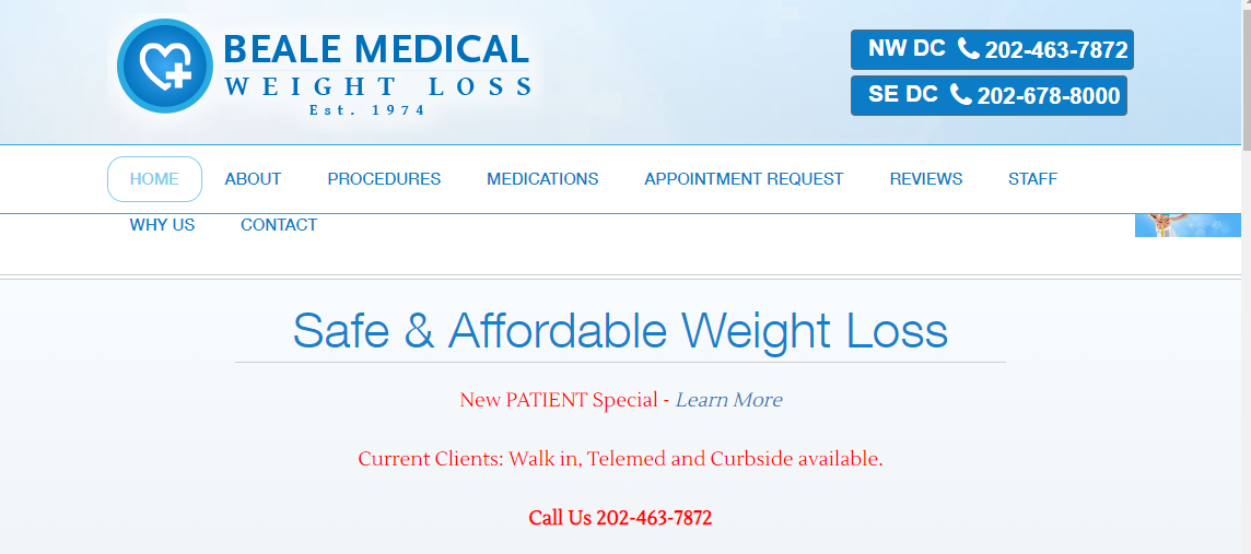 Dr. Beale's Medical Weight Loss Washington, DC